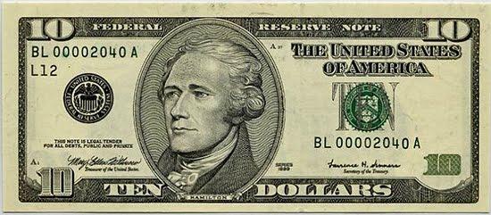 10 dollar bill clip art.
