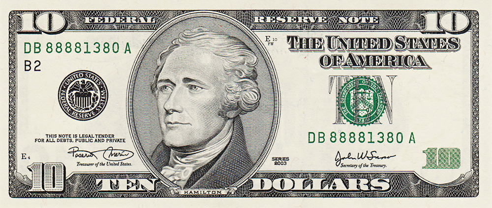 Ten Dollar Bill Clipart.