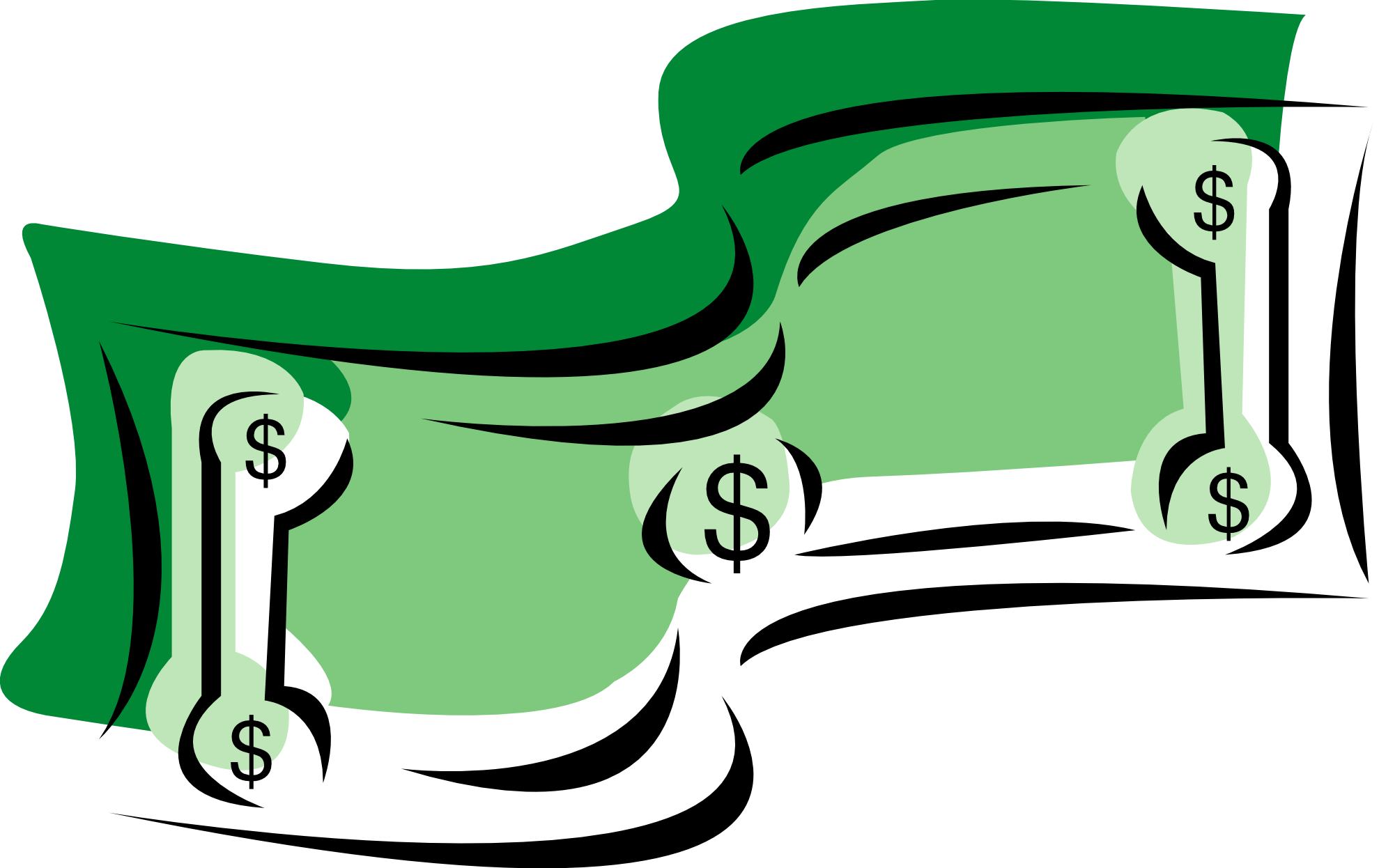 9 one dollar bill clip art..