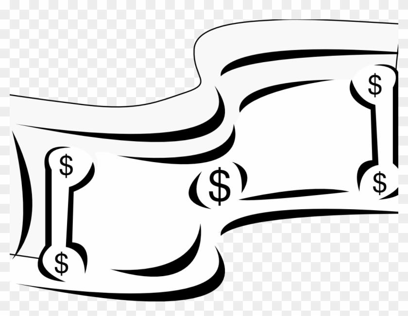 One Hundred Dollar Bill Cartoon Money Stock Vector.