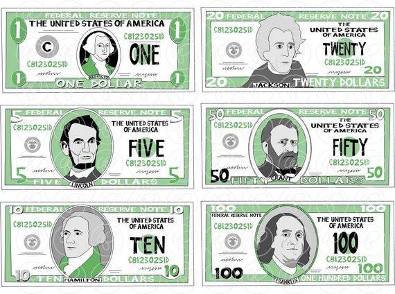 Money Clipart Set.