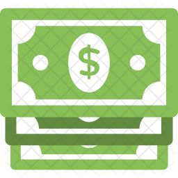 Stack of Dollar Bills Icon.