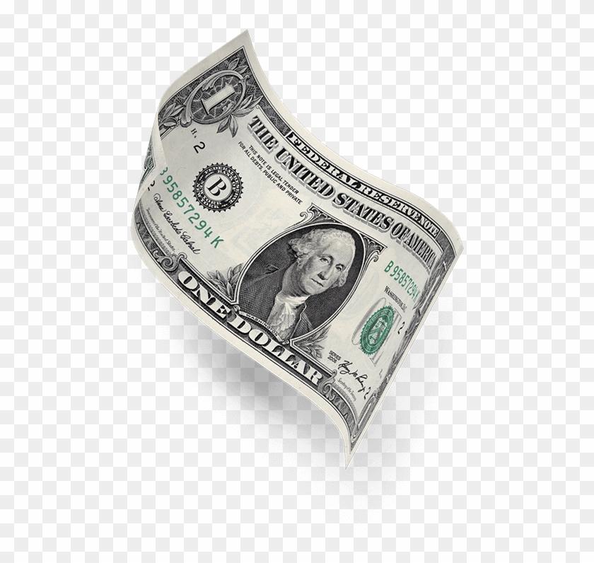 Floationg Dollar Bill.