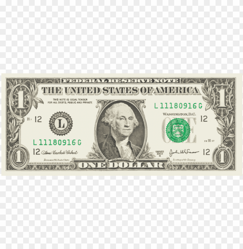 Download Free png Download transparent one dollar bill png Free PNG.