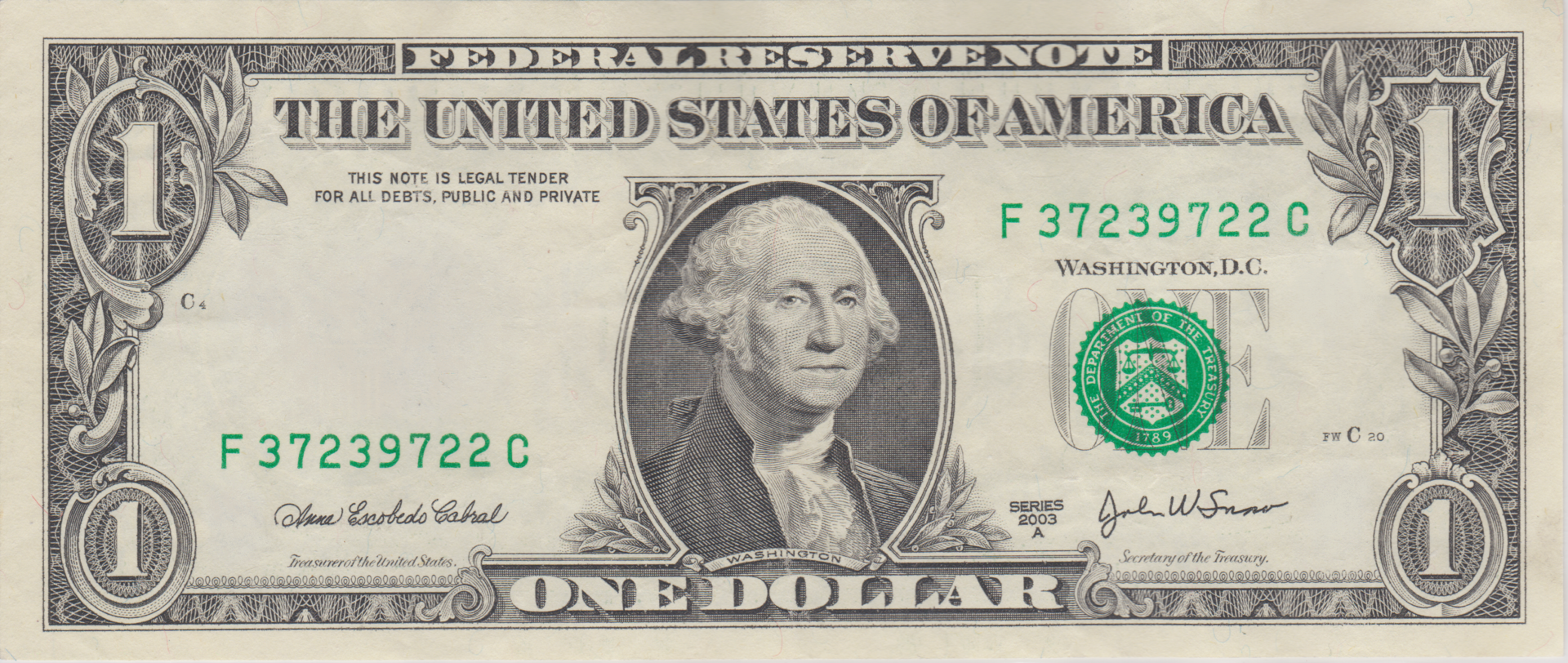 One Dollar Bill PNG Transparent One Dollar Bill.PNG Images..