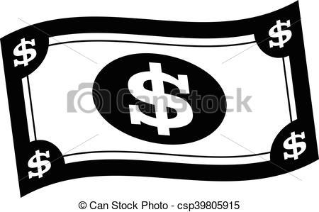 Dollar bill vector illustration.