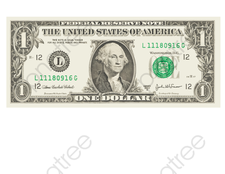 Dollar bill clipart vector.