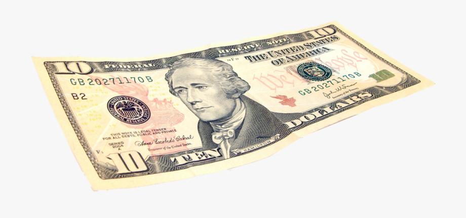 $10 Png Dollar Bill.