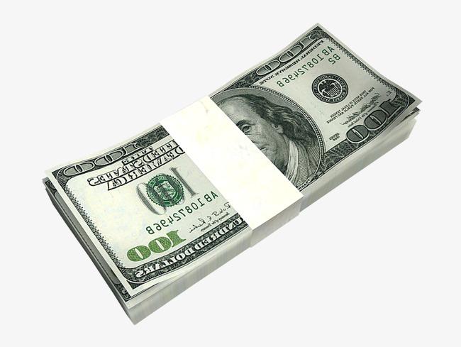 A Stack Of Dollar Bills, Dollars, Bankno #108087.