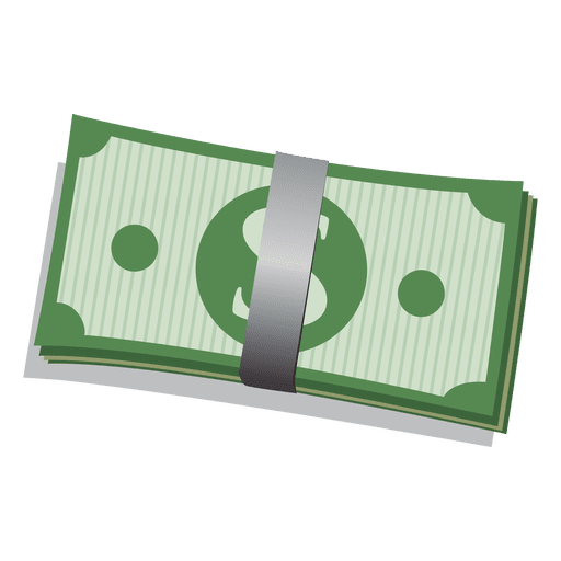 Dollar bill bundle.