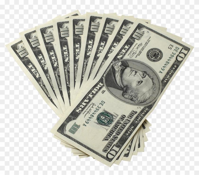 Dollar Bills Ten Money.