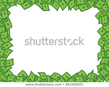 Many Money Dollar Bills Frame Vector Stock Royalty Free Complete.