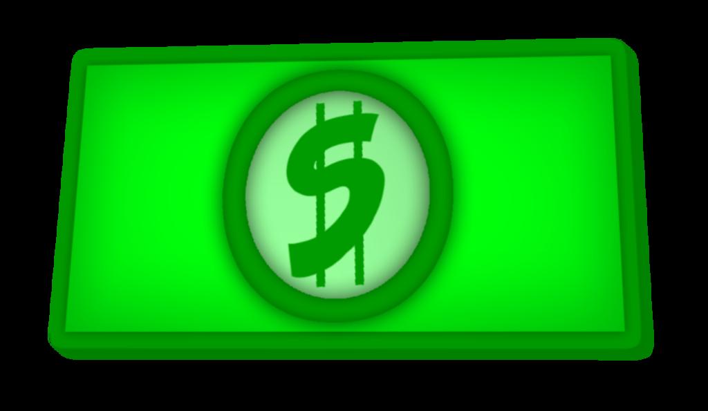 Clip art dollar bill.