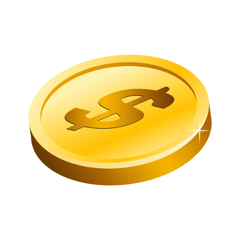 Free Clipart: Gold Dollar Coin.