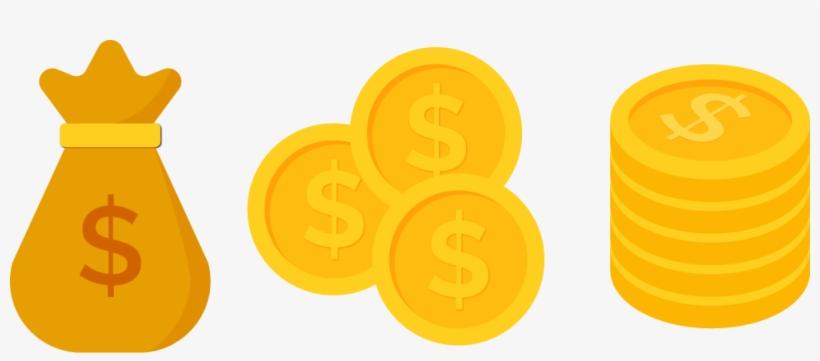 Coins clipart dollar coin, Coins dollar coin Transparent.