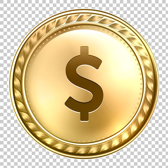 Dollar Gold Coin PNG Image Free Download searchpng.com.