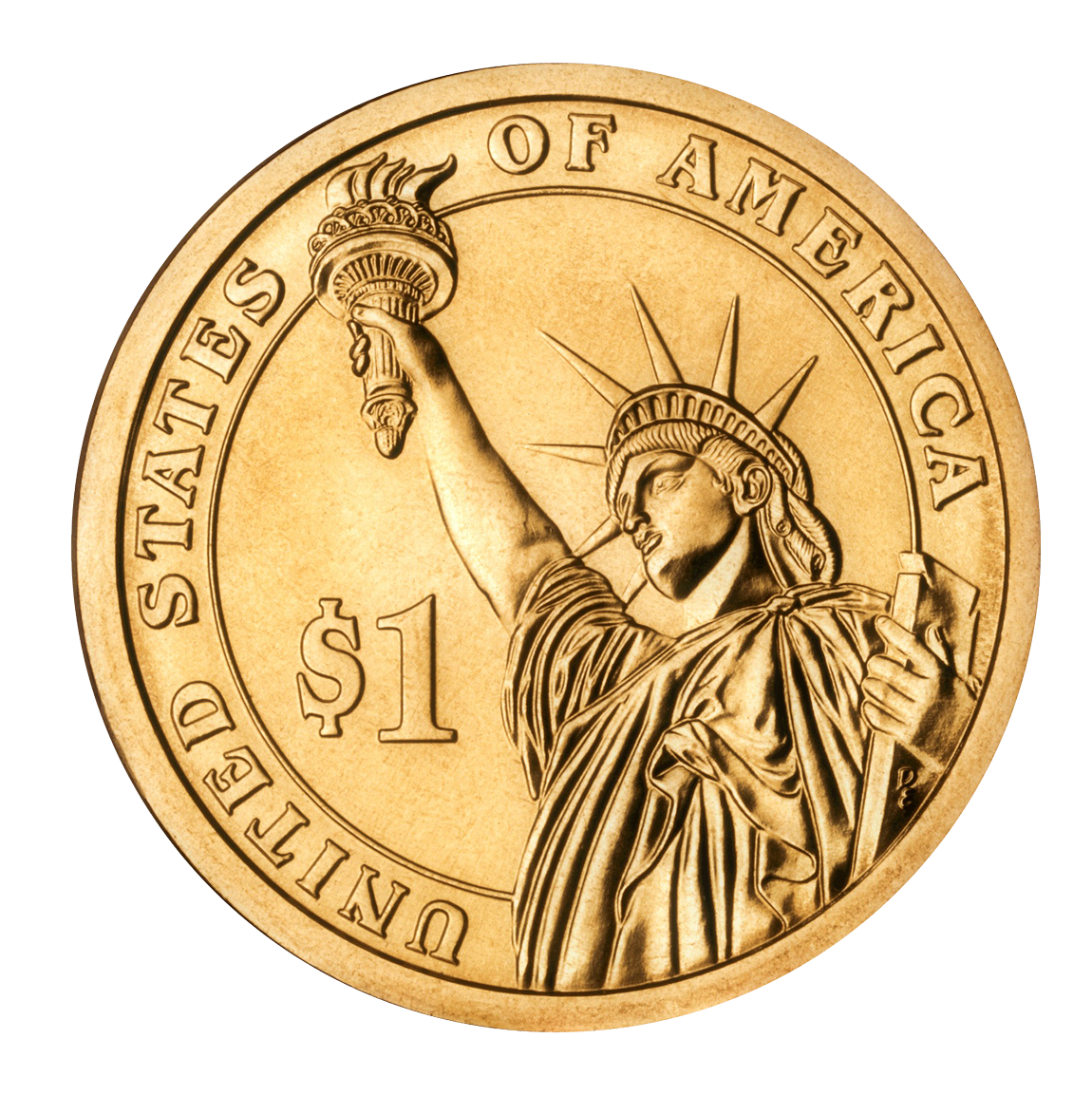 Dollar Coin PNG Image.