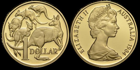 Australian Dollar Coin Png Vector, Clipart, PSD.
