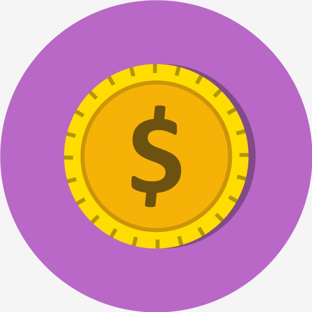 Vector Dollars Coin Icon, Money Icon, Dollar Icon, Coin Icon PNG and.