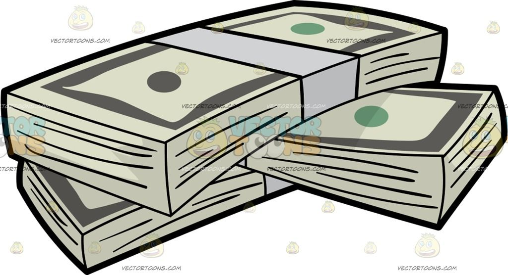 Bundles Of Us Dollar Money Bills : Three bundles of US dollars.