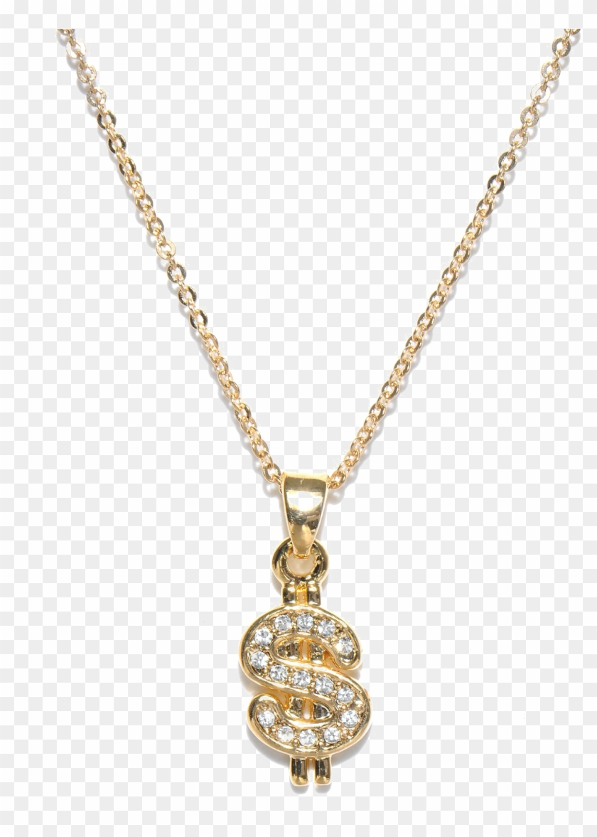 Thug Life Dollar Gold Chain Transparent Image, HD Png Download.