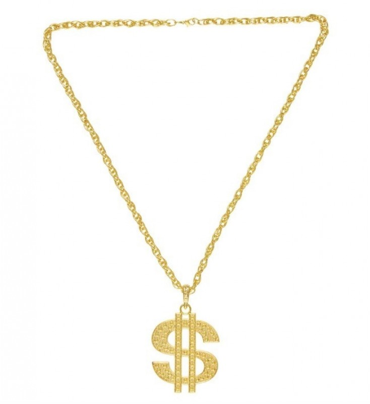 Gold Dollar Necklace.