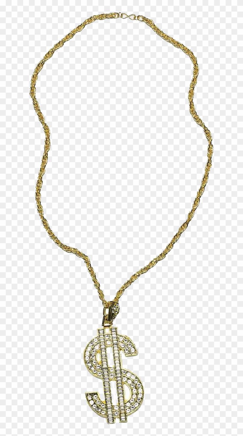 Thug Life Gold Chain Dollar Rocks.