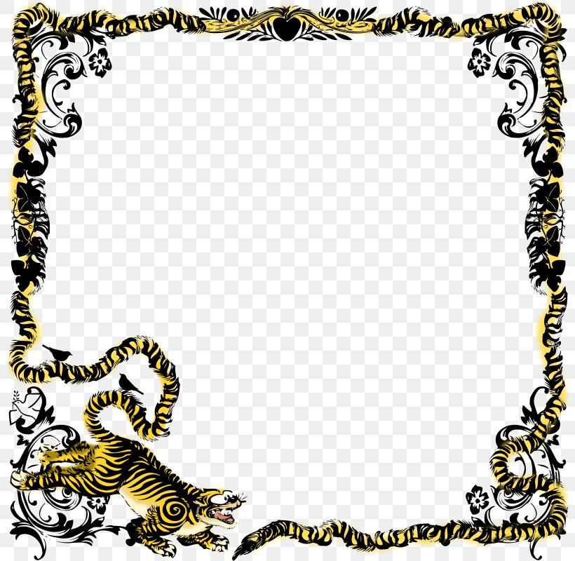 Puppy Picture Frames Tiger Animal Clip Art, PNG, 800x800px.