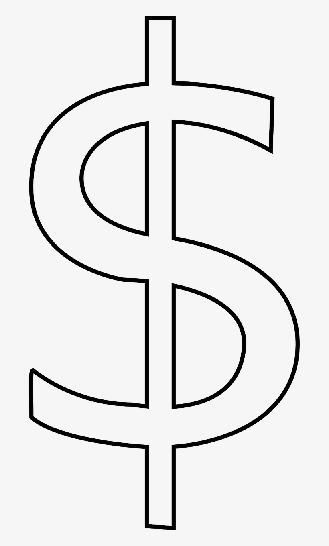 Dollar Sign Stencil.
