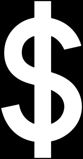 Dollar Sign Line Art.