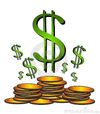Bags Of Money And Coins Dollar Signs Royalty Free Stock Photo.
