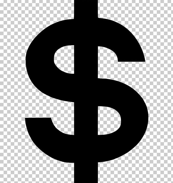 United States Dollar Dollar Sign Logo PNG, Clipart, Black And White.