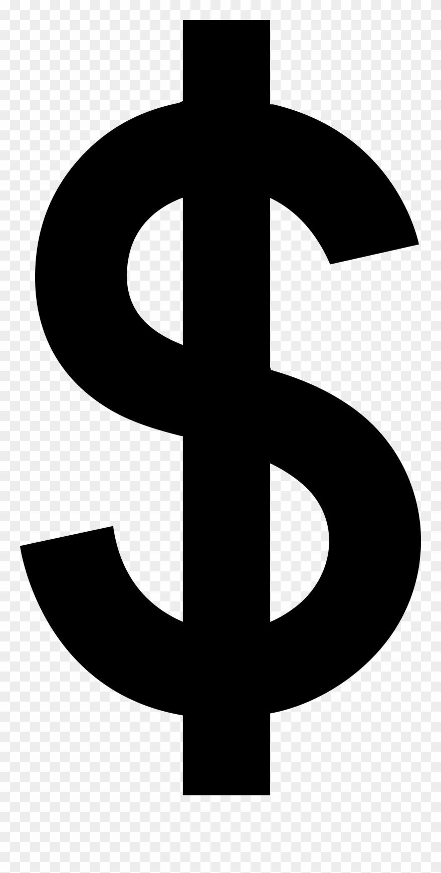 Black Dollar Sign Silhouette.