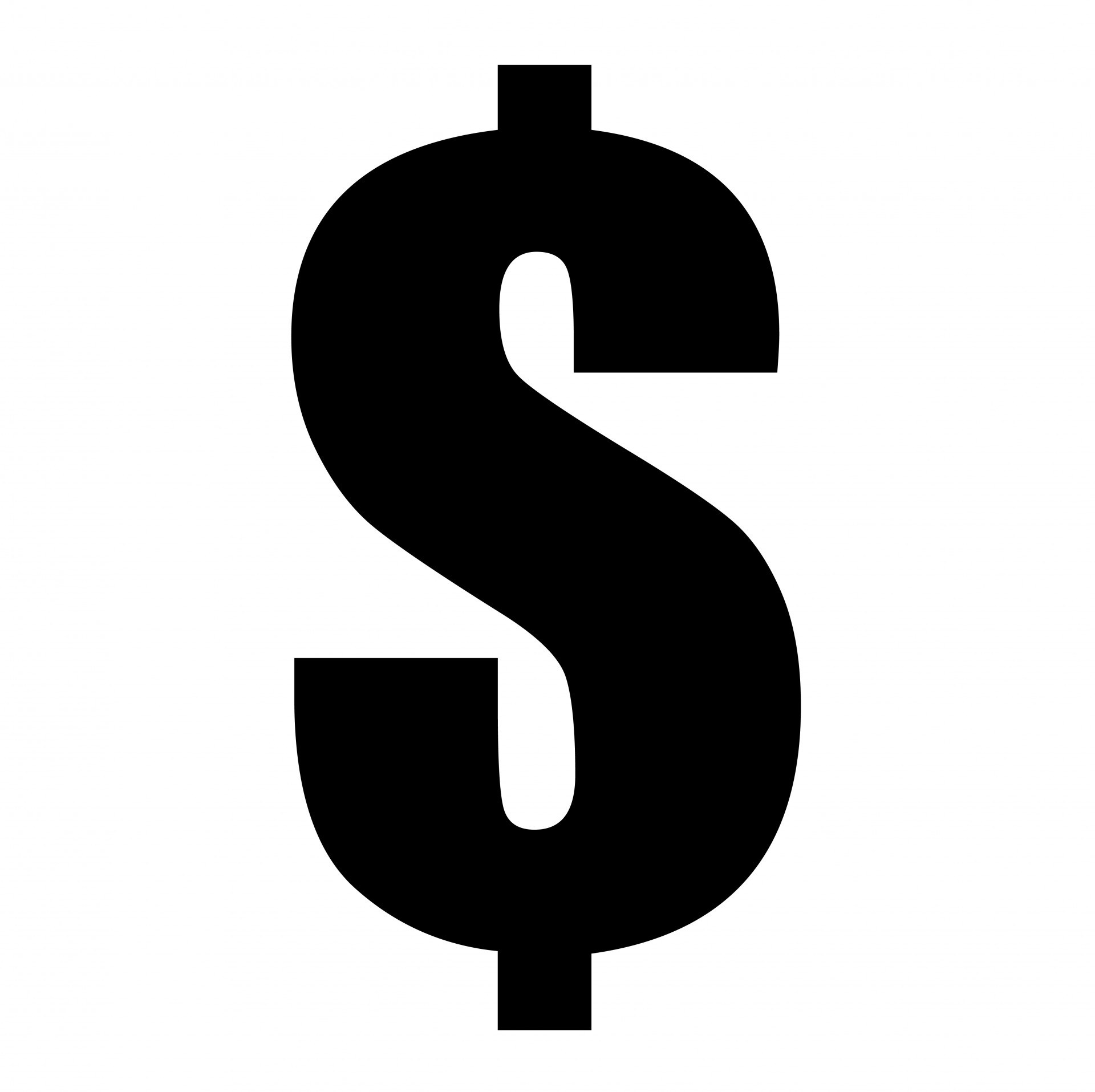 Dollar sign clipart black and white 2 » Clipart Portal.
