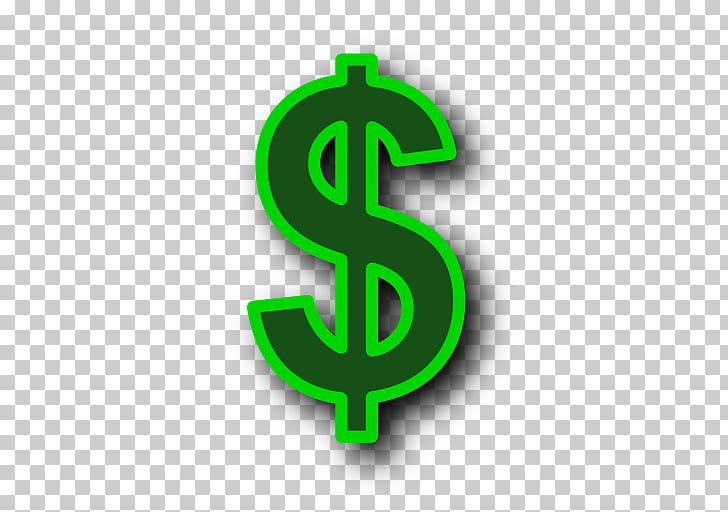Dollar sign Money Icon, Green Dollar Symbol Transparent.