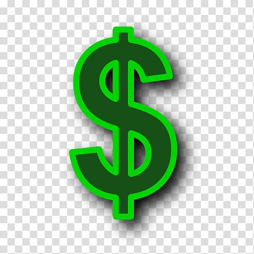 Dollar sign, Dollar sign Money Icon, Green Dollar Symbol Background.