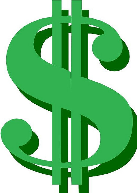 Dollar Sign Image Using Number 8 Clipart Free.