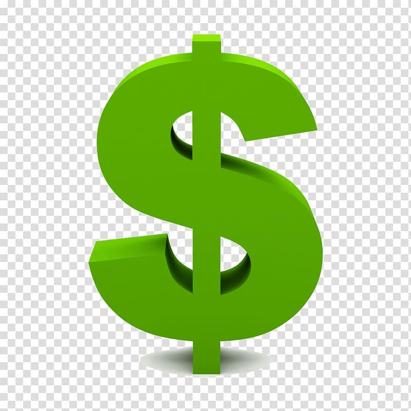 Dollar sign, Dollar sign United States Dollar , Green Dollar.