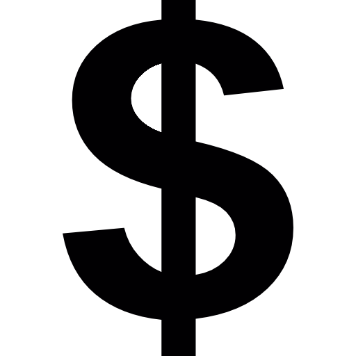 Dollar Sign PNG Logo, Gold Dollar Sign, Black Dollar Sign.
