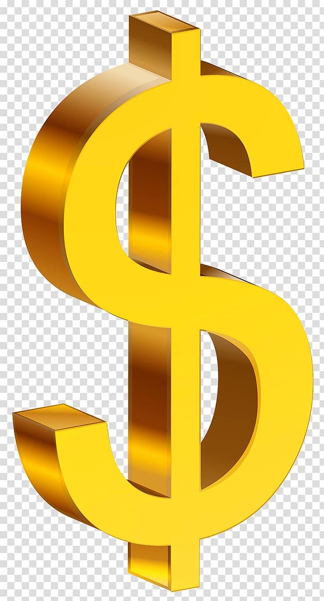 Dollar sign United States Dollar Dollar coin , Money transparent.