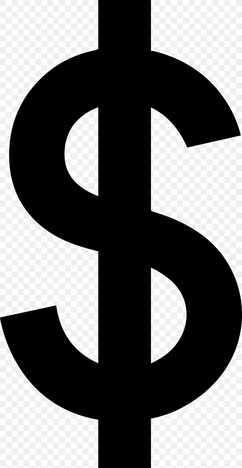 Dollar Sign Currency Symbol Clip Art, PNG, 1856x3590px.
