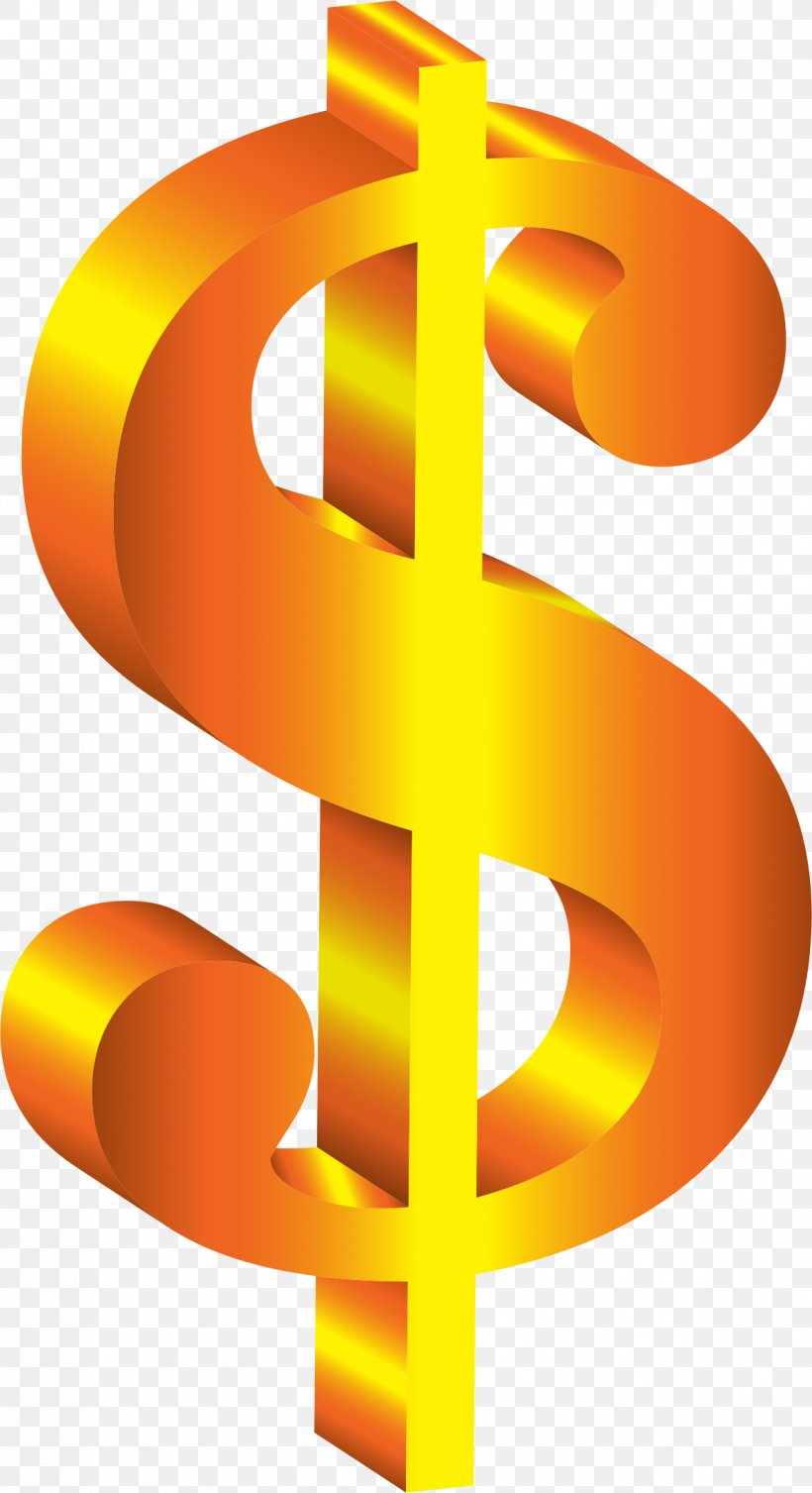 Dollar Sign Currency Symbol Clip Art, PNG, 1186x2180px.