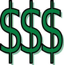 three green dollar signs.