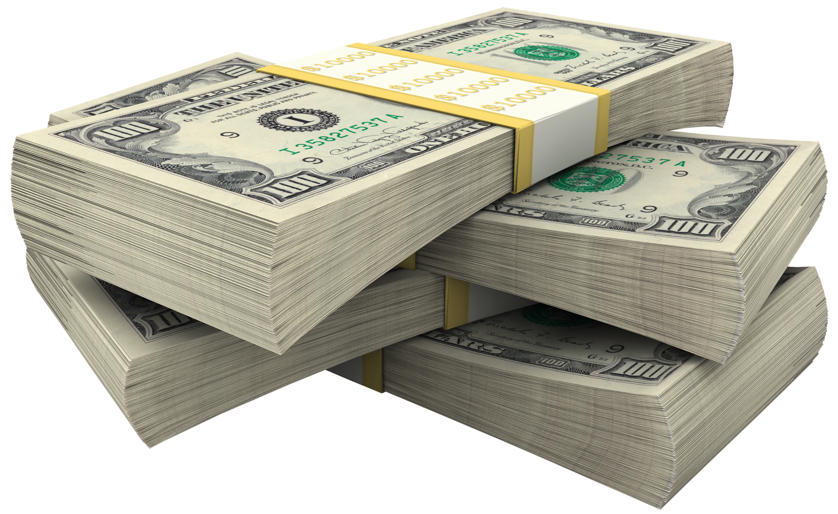 Bundles Of Dollars PNG Clipart Picture.