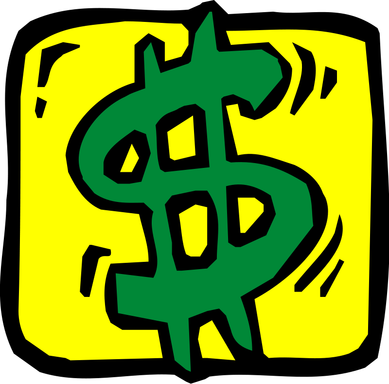 Dollar money clipart.