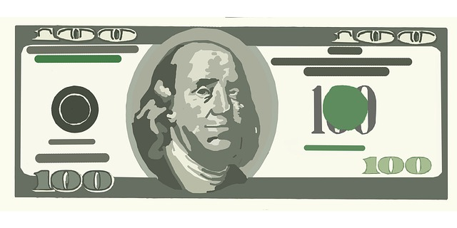 Money clipart black and white dollar bill one hundred.