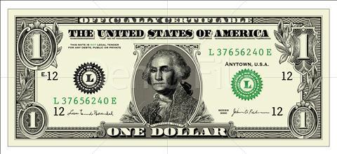 1 Dollar Clipart.