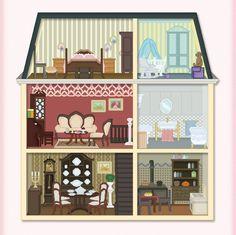 Dollhouse Clip Art.
