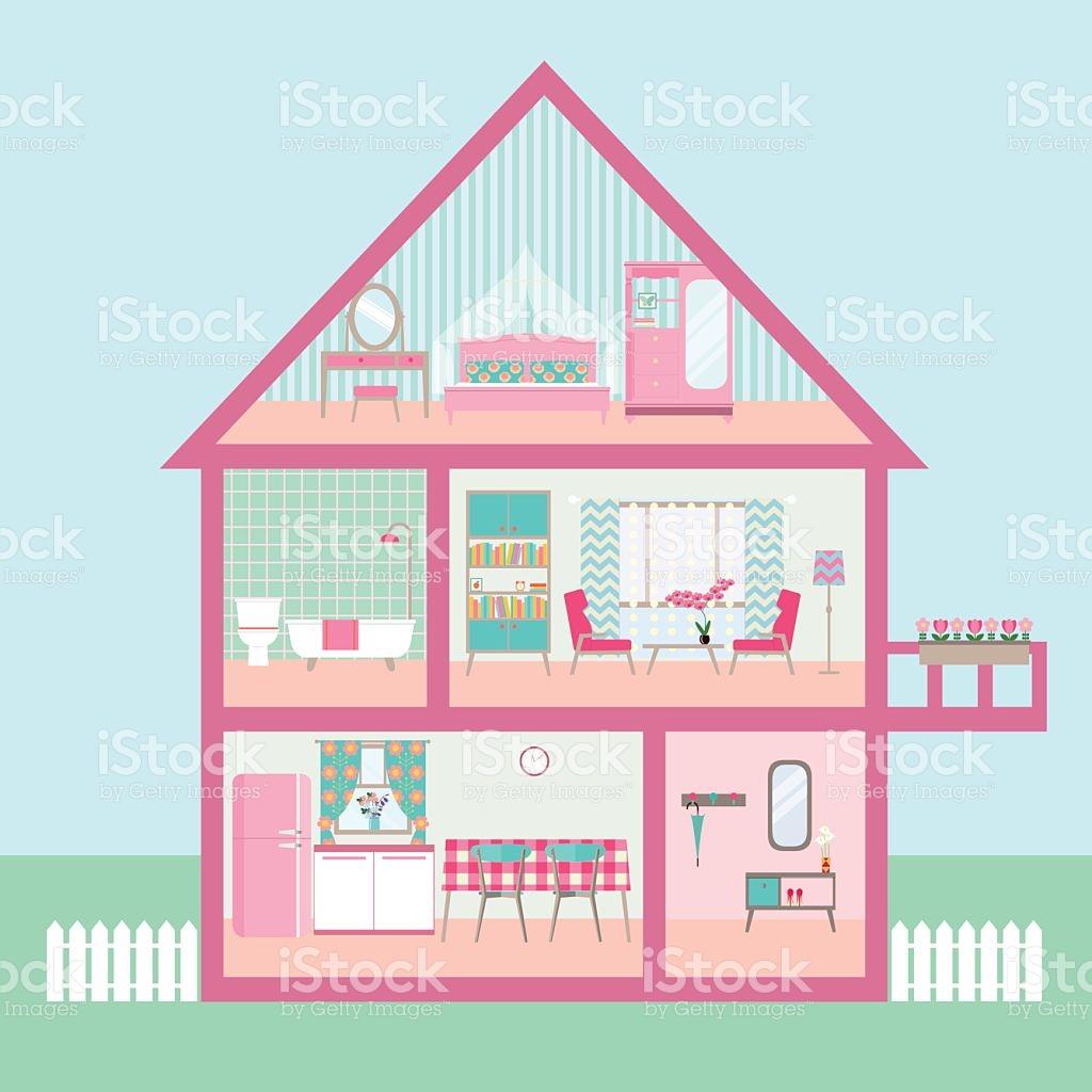 Dollhouse toys clipart.