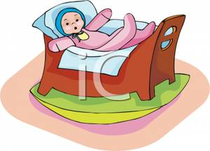 Doll's bed clipart #15
